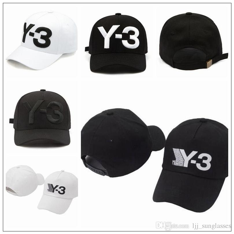 1c01dffcc3668 New Y 3 Dad Hat Big Bold Embroidered Logo Baseball Cap Adjustable Strapback  Hats Y3 Ball Caps CCA9221 Mens Caps La Cap From Ljj sunglasses