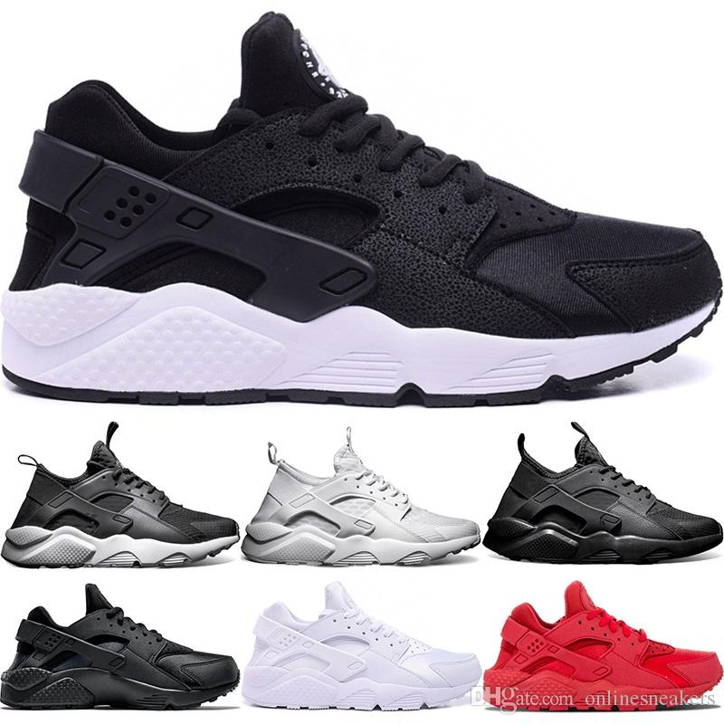 aee0dc6fd753 2019 Huarache Ultra Running Shoes 4.0 1.0 Men Women Triple White Core Black  Red Cheap Huaraches Mens Athletic Sport Sneaker Size 36 45 From  Onlinesneakers