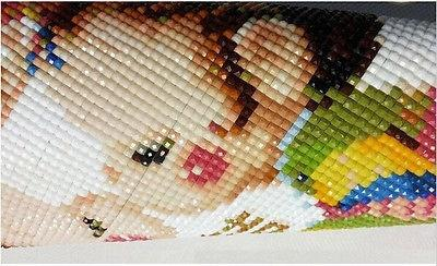 100% Zone DIY 5D diamant broderie Peinture Point De Croix Diamant Dessin Décor À La Maison Vieux couple