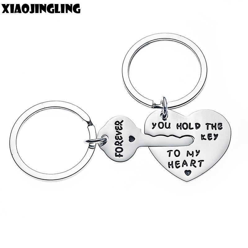 XIAOJINGLING Design Key Heart Keychain Women Fashion Jewelry Men ... cd211b016