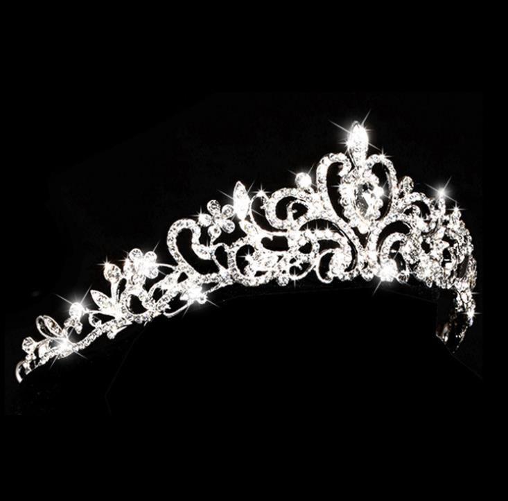 Die Braut Hochzeit Diamant Tiara Krone Legierung Haar Styling Hochzeit Kopfschmuck