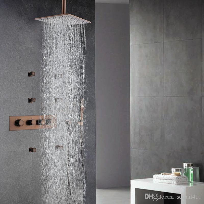2018 European Style Rainfall Showerhead Wall Antique Brown ...