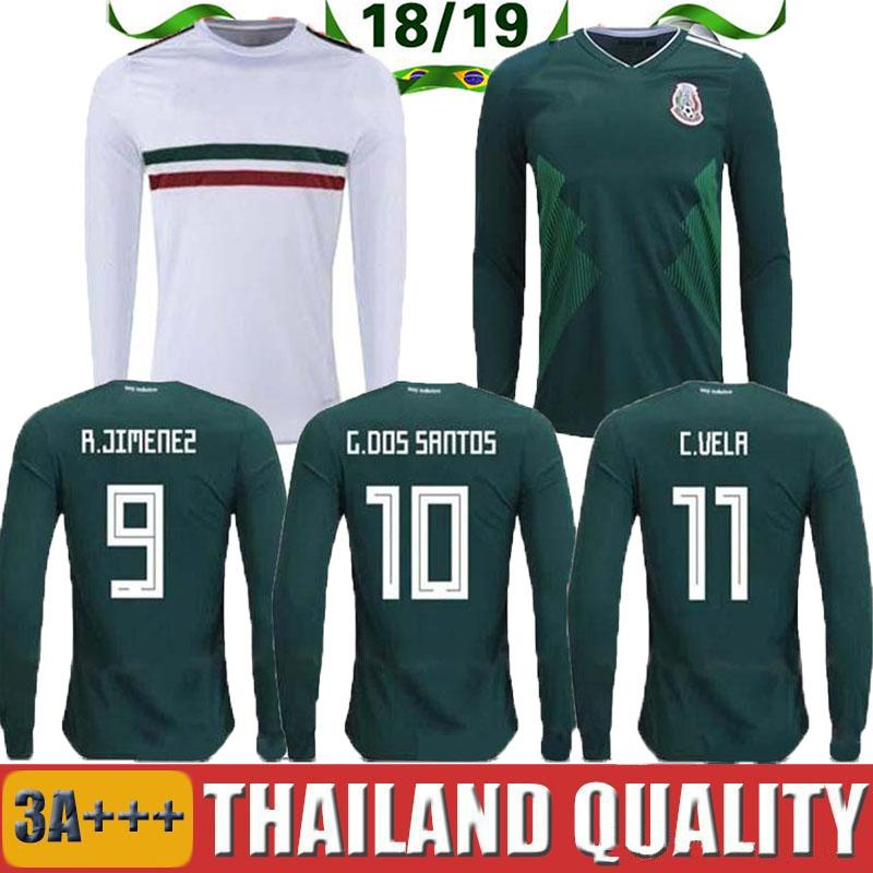e5d9d91f0 2019 TOP QUALITY 2018 World Cup Mexico Home Away Soccer Jersey Long Sleeves  CHICHARITO M.LAYUN H.LOSANO H.HERRERA A.GUARDADO 18 19 Football Shir From  ...