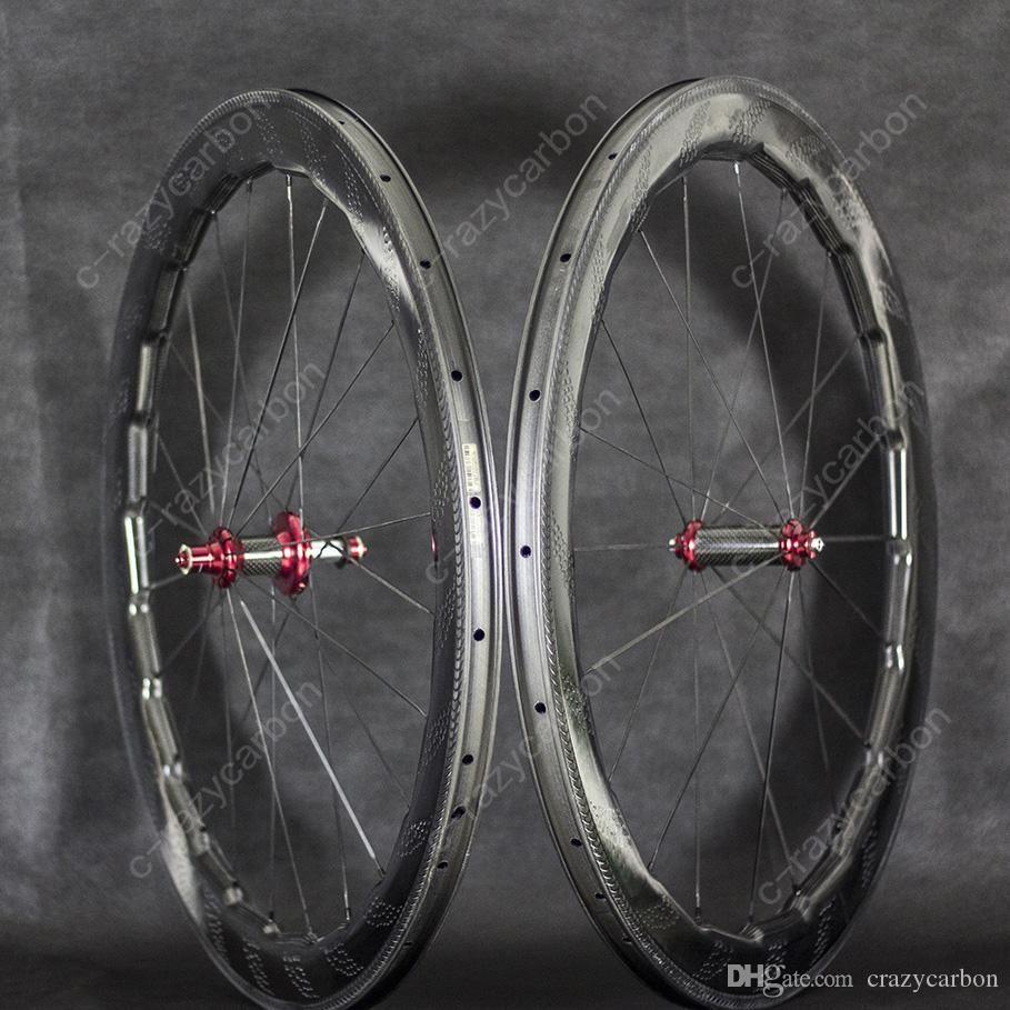 454 Special Brake Surface Dimple Carbon Wheels 58mm Road Bike Carbon Wheel 700C Racing Road Aero Bicycle Wheels