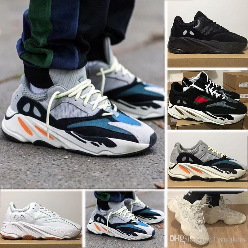 2d3d20298fe Acheter Adidas Yeezy Boost 700 700 Wave Runner KAWS Kanye Ouest Originals  2018 Nouveau Designer Hommes Chaussures De Course Pour Hommes Baskets  Femmes ...