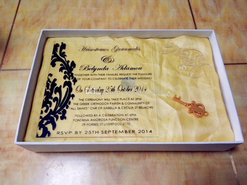 2019 2017 Acrylic Customized Invites Acrylic Engraved Wedding