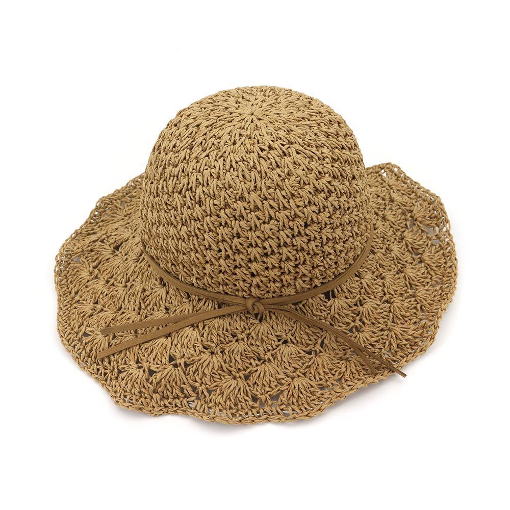 026dc914663 Female Handmade Crochet Large Wide Brim Foldable Straw Hats For Women  Summer Anti Uv Sun Hat Beach Sea Women S Hats 2018 New Hats In The Belfry  Knit Hats ...