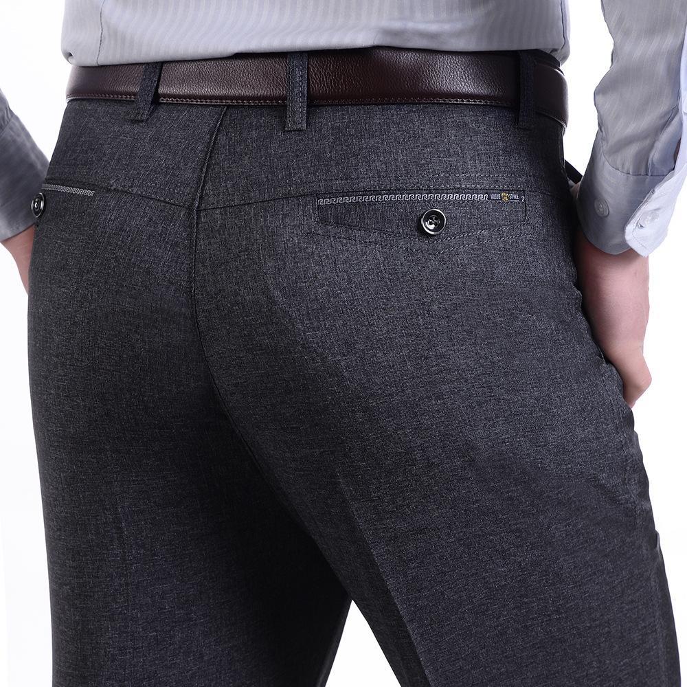 Compre Pantalones De Traje De Lujo De Los Hombres Pantalones De Vestir  Sociales Para Hombre Slim Fit Blazer Formal Pantalones 2016 Nueva Llegada  Pantalón De ... 21c8a0d22748