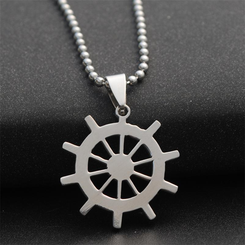 Wholesale Dharma Wheel Necklace Buddhism Symbol Necklace