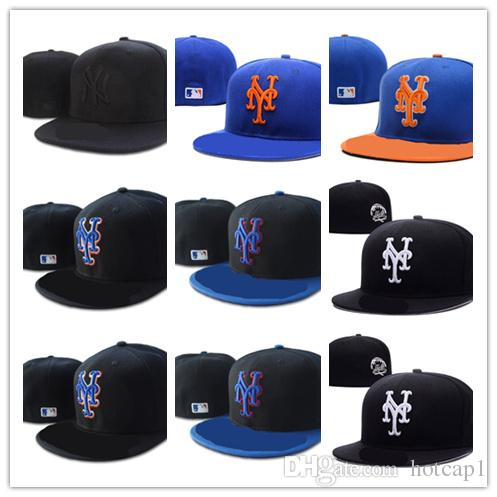 High Quality New York Mets Fitted Hats For Men Women Sports Hip Hop Mens  Bones Cap Flexfit Hats For Men From Hotcap1 3e0feab8e5