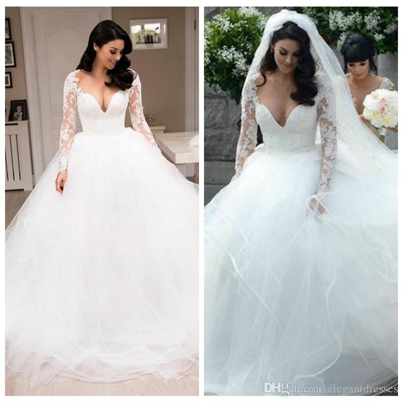 fd4047094b20 Discount 2019 Gorgeous Beach Wedding Dresses Deep Sweetheart Lace And Tulle  Tiered Skirts Ball Gown Wedding Dress Custom Made Cheap Bridal Gowns Gothic  ...