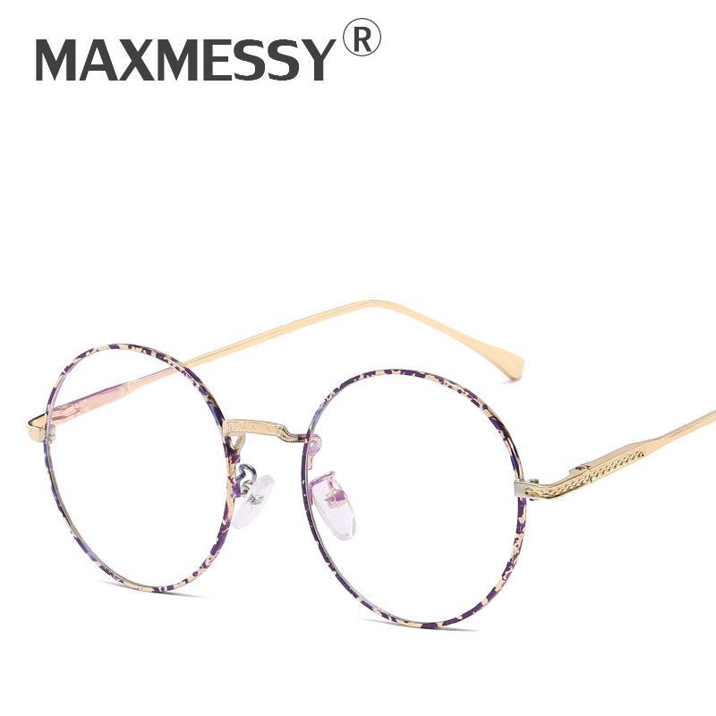 50914bdd823 2019 MAXMESSY Women New Spring Leg Metal Eyeglasses Frame Men Anti Blue Ray  Anti Radiation Optical Computer Glasses Male Goggles F040 From Bojiban