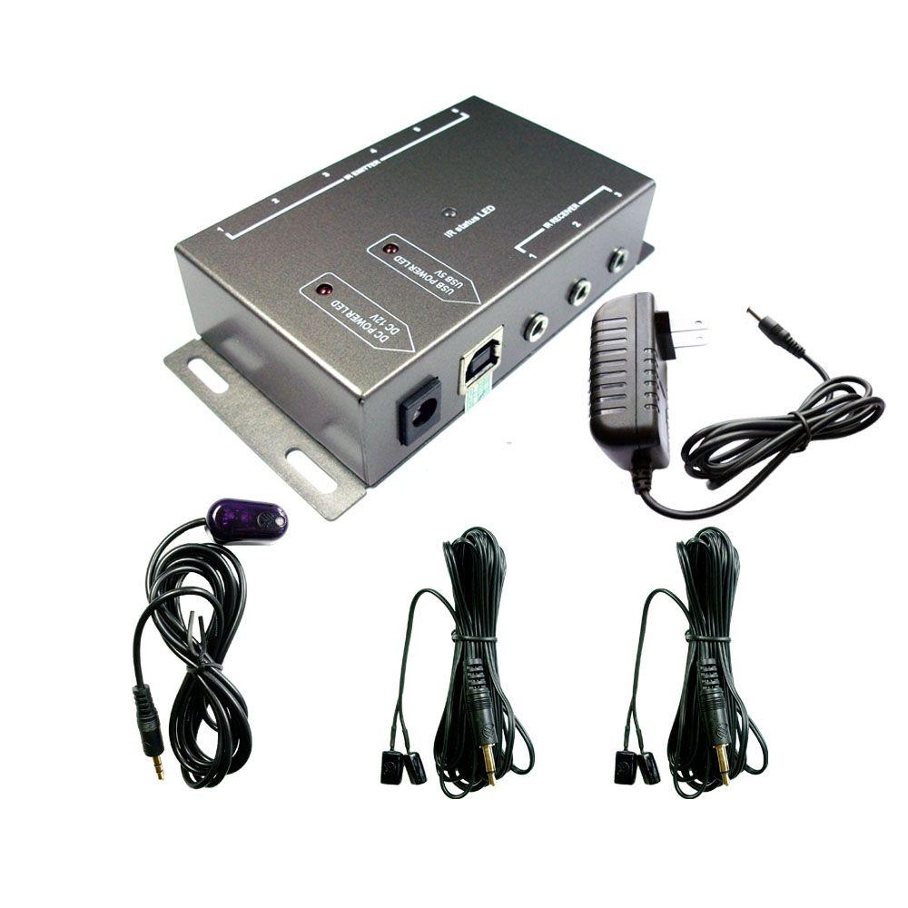 BD104 IR Repeater Kit, Infrared Remote Control Extender IR Kit Blaster  System 1 Reciver 4 Emitter