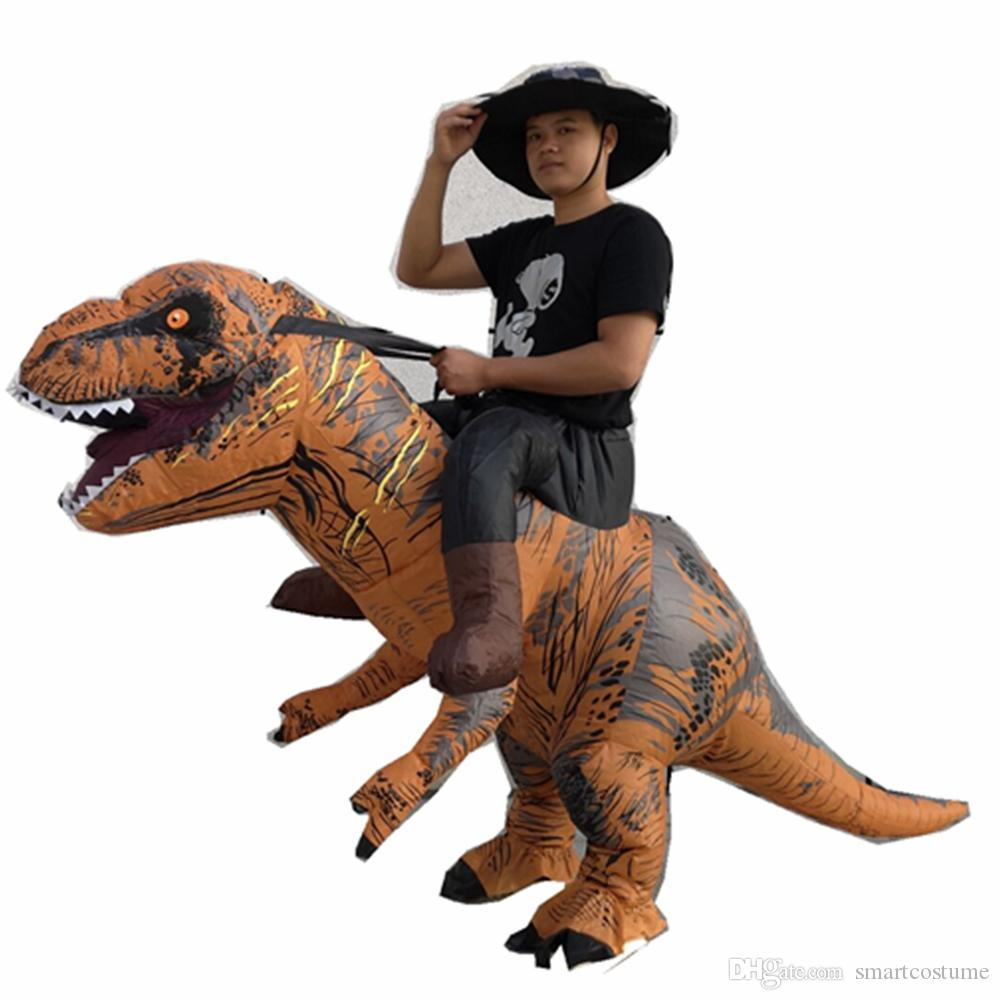 ride on the T-rex dinosaur costume T REX dinosaur carry me fancy dress suit adult inflatable costume