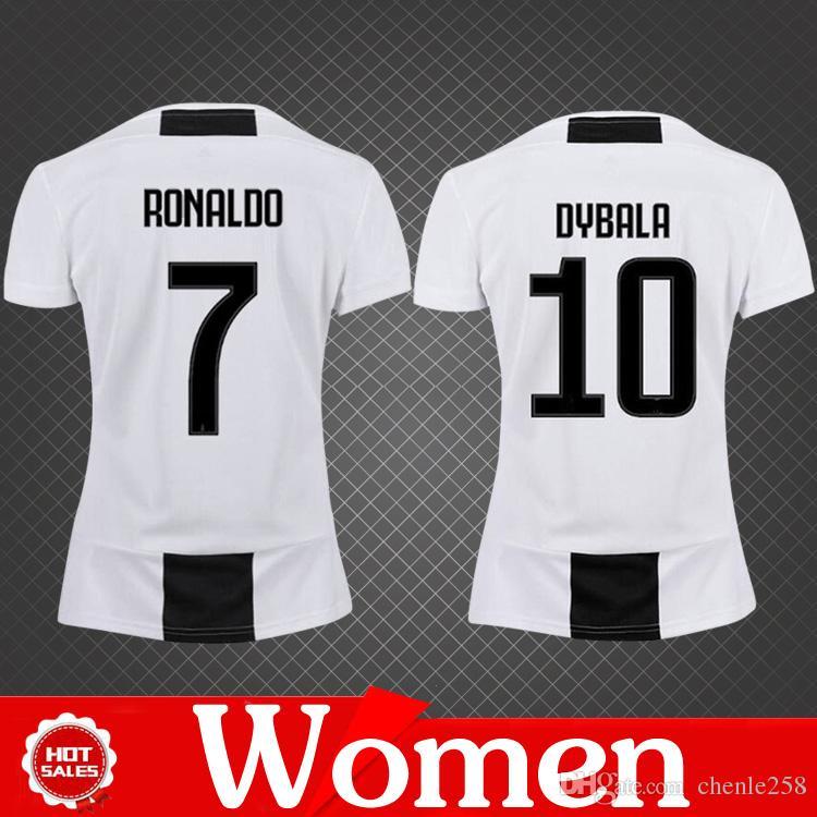 Camiseta Mujer Juventus 2019 Camisetas De Fútbol Local Ronaldo Juventus  Femenino DYBALR HIGUAIN MANDZUKIC Juve Girl Camiseta De Fútbol De Calidad  TOP Por ... b20f30fb1869f