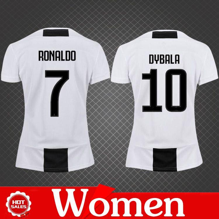 Women Juventus Jersey 2019 Home Soccer Jerseys Ronaldo Juventus ... 1495eb463e