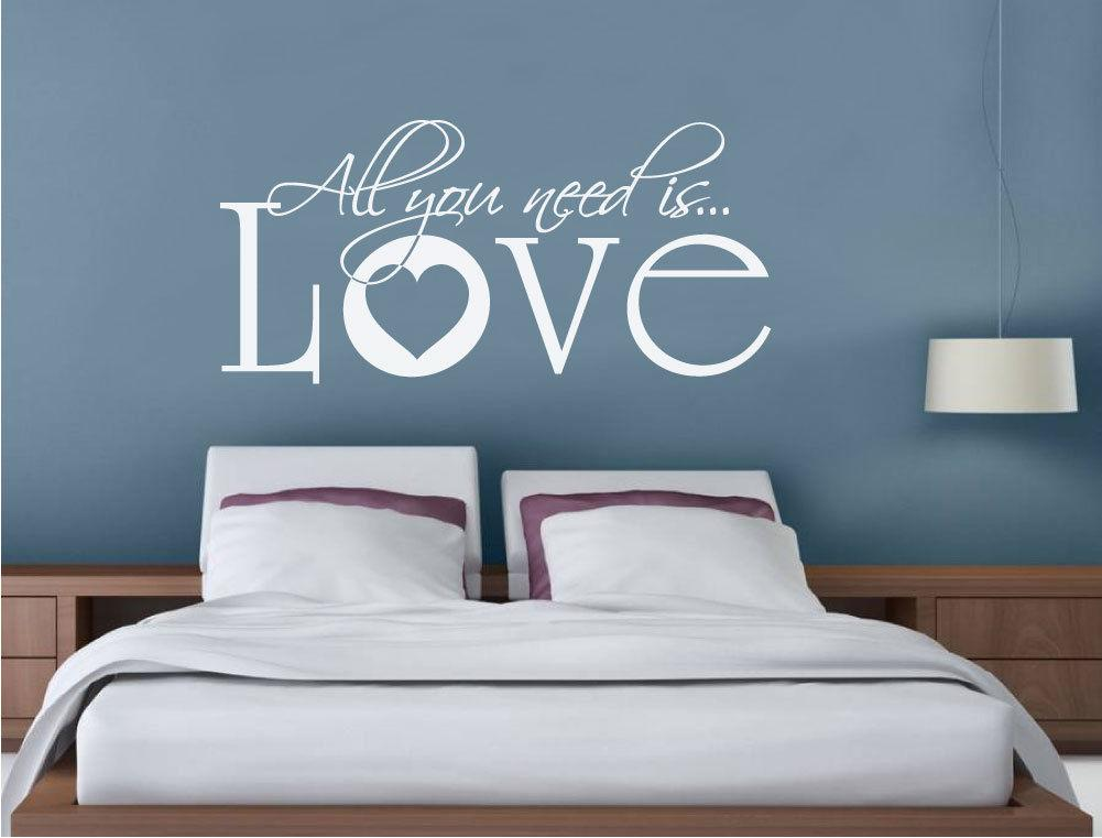 All You Need is Love Wall Sticker Quote Love Wall Art Decal Song Lyric  Bedroom Decoration Accessories