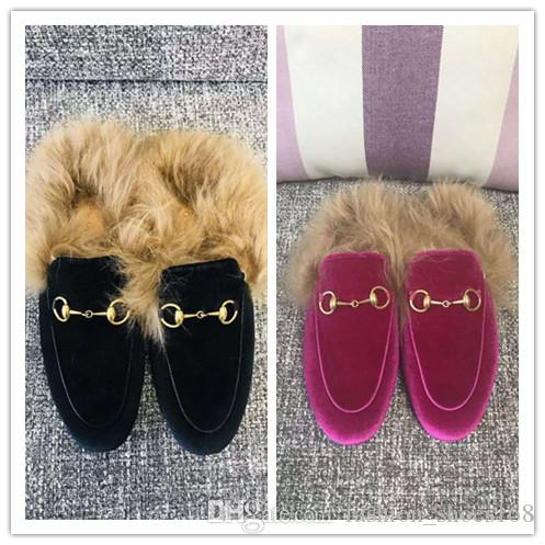 3426dc2e39a Plush Casual Shoes For Women Luxury Brand Fashion Metal Buckles Loafers  Flat Girl Sneakers Sides Designer Sandals Lady Slippers Newest Naot Shoes  High Heel ...