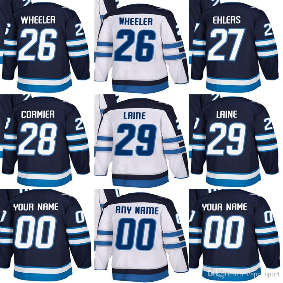 916ed936db0 2019 Cheap Mens Womens Kids Winnipeg Jets 26 Blake Wheeler 27 Nikolaj  Ehlers 28 Patrice Cormier 29 Patrik Laine Stitched Ice Hockey Jerseys From  Espn sport