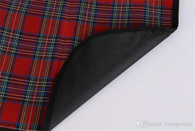 Оксфорд ткань пикник колодки открытый водонепроницаемый деликатный решетки цветок цвет коврики складной портативный пляж кемпинг использовать 11 7ys WW