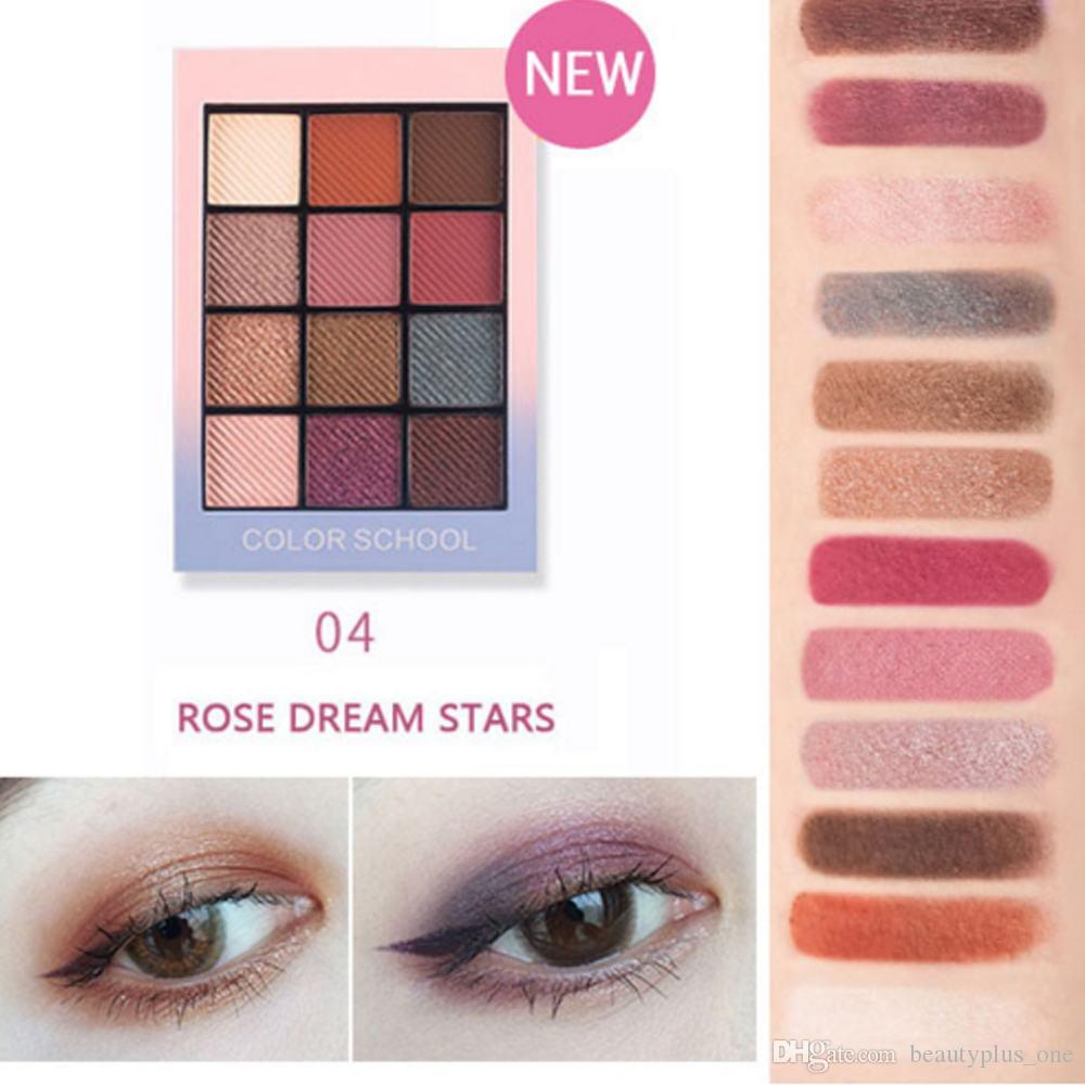 Sincere New Hold Live 12 Colors School Shimmer Matte Eyeshadow Palette Waterproof Red Pigment Eye Shadow Powder Nude Korean Makeup Brand Eye Shadow
