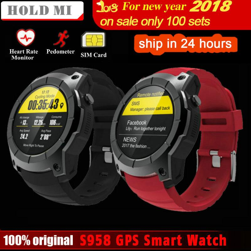 7efe25b9f Hold Mi S958 GPS Smart Watch Heart Rate Monitor Sport Waterproof SIM Card  Support 4.0 Smartwatch For Android IOS Phone Best Smart Watches For Men  Cheap ...