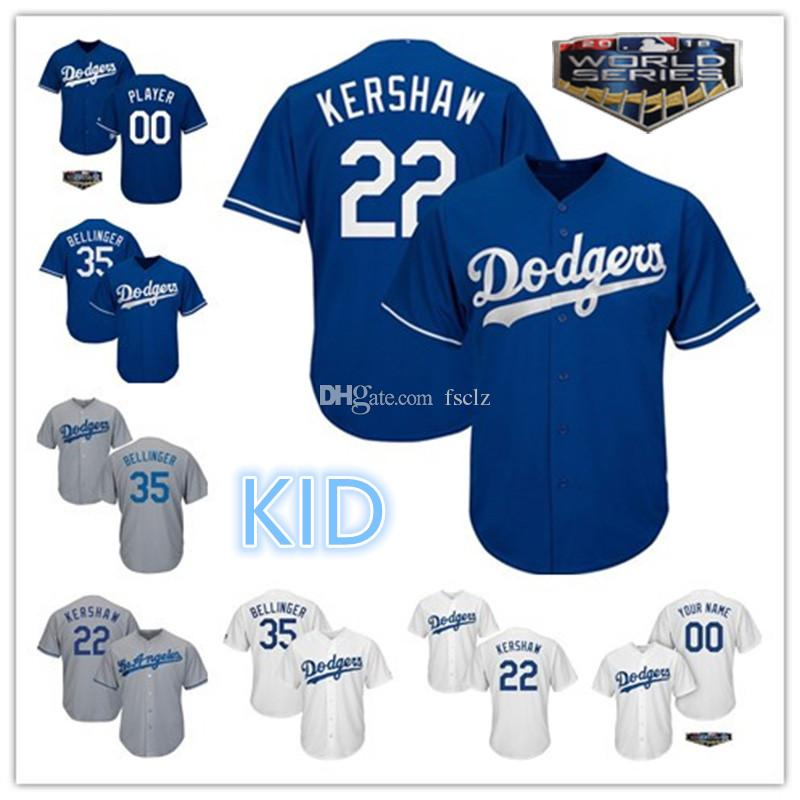 2019 Kid Los Angeles Dodgers 2018 World Series Steve Clayton Kershaw Cody  Bellinger Justin Turner Jackie Robinson LA Youth Baseball Jersey From  Fsclz a0d66dd3522
