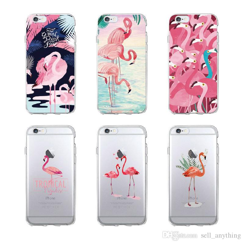 Flamingo Series Phone Cases For Iphone Xs Max Xr Painted TPU Cell Phone Case For Iphone 6 7 8 X Plus Samsung S9