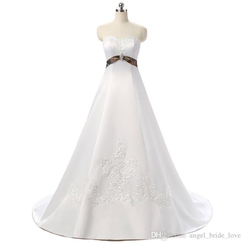 Discount 2018 Fashion Crystal A Line Camo Wedding Dresses With Appliques  Satin Lace Up Plus Size Bridal Gowns Vestido De Novia BA04 Monique Wedding  Dresses ... ff94db4bc8c5