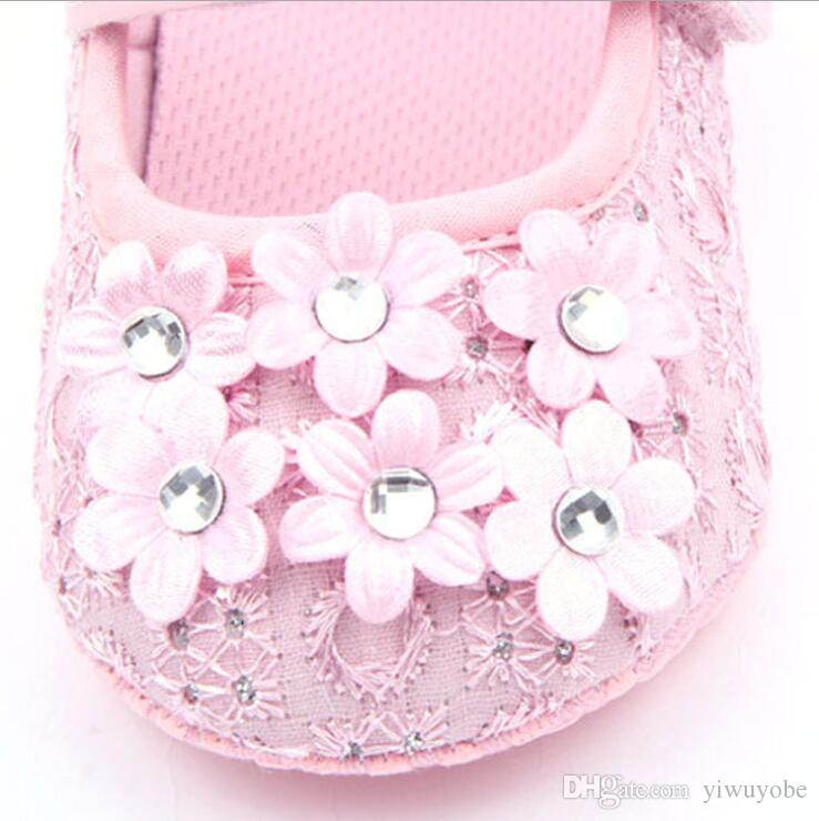 Baby princess shoes drill floral infant first walkers 0-12months kids shoes soft sole