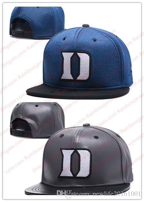 0239825f2aa NCAA Duke Blue Devils Snapback Caps 2018 New College Adjustable Hats All  University Caps Gray Blue Black One Sze For All UK 2019 From  Newlife20161001