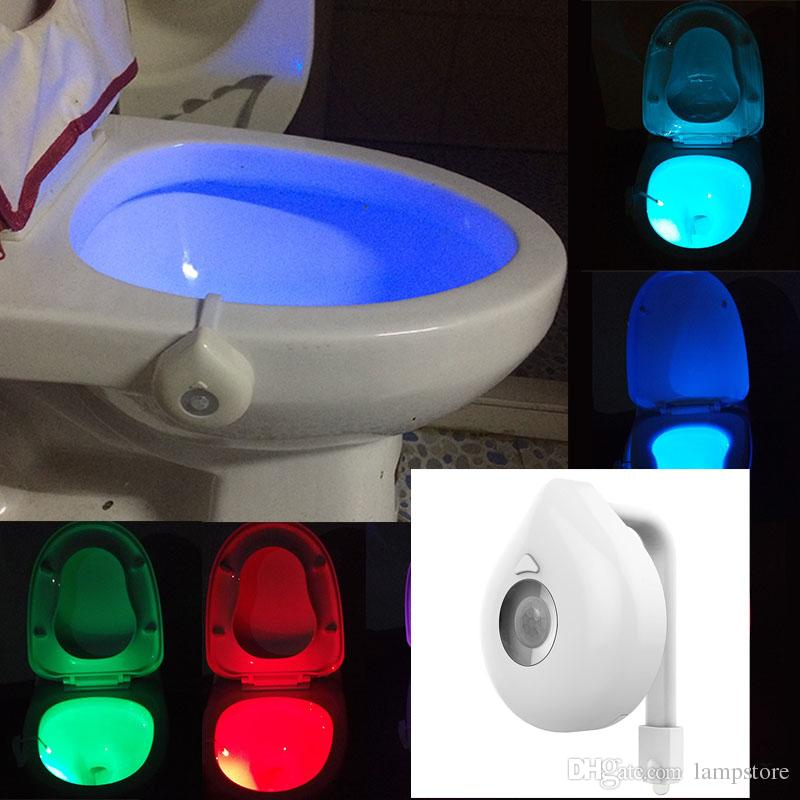 Terrific New Motion Activated Led Toilet Night Light Bowl Bathroom Led 8 Colors Lamp Sensor Lights Live Intelligently Fits Any Toilet Beutiful Home Inspiration Xortanetmahrainfo