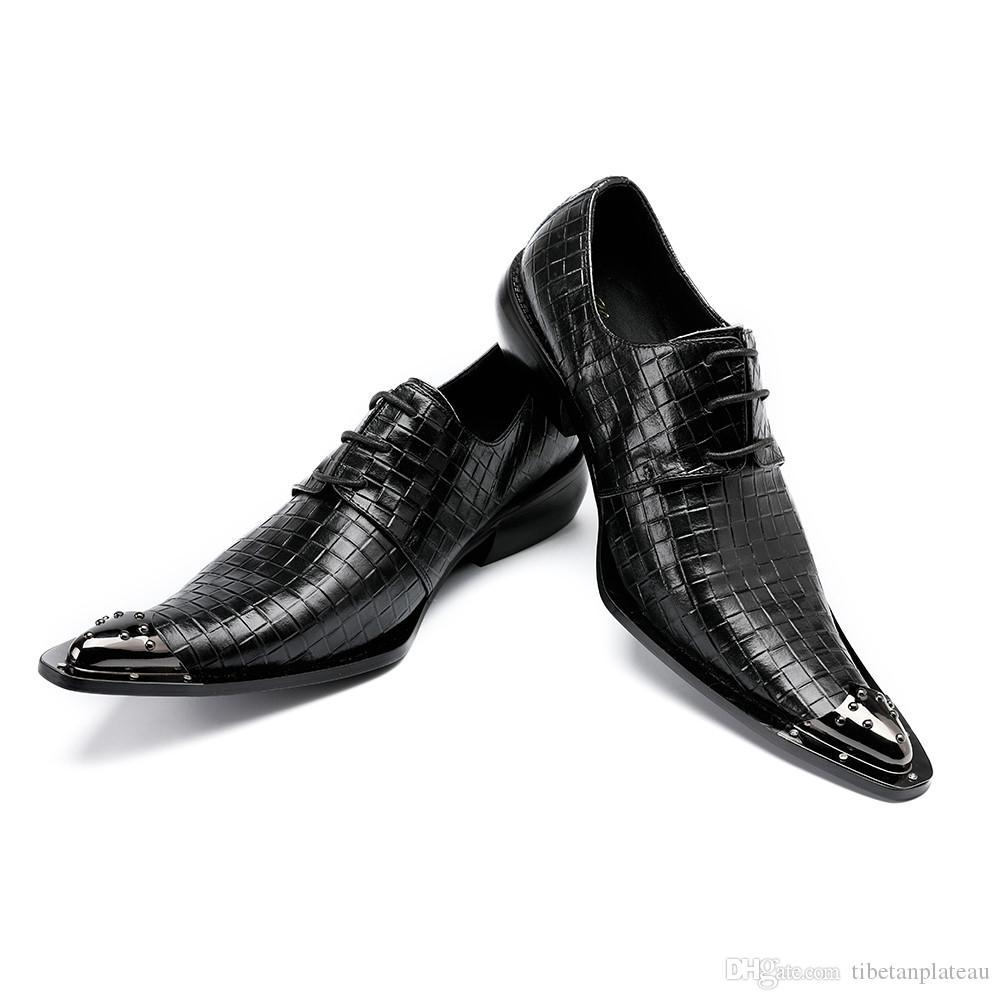80ced1a36a Scarpe da donna con tacco alto stile derby Christia Bella Moda Scarpe uomo  a punta in pelle con lacci in rilievo