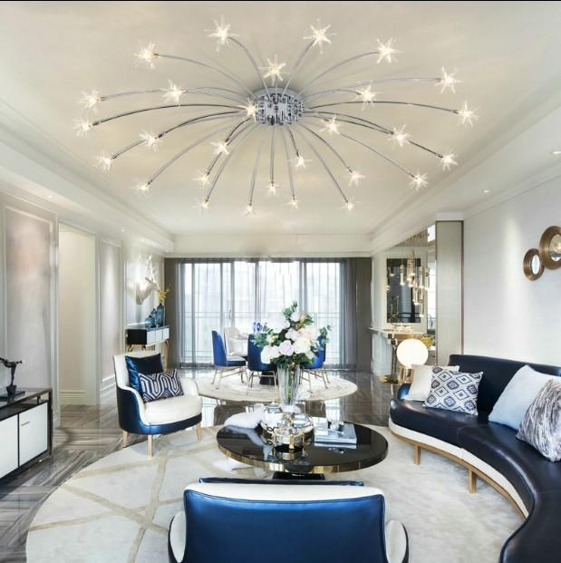 2019 Modern Sky Star Led Crystal Ceiling Light Sitting Room Warm Bedroom  Restaurant Plafondlamp Lighting Suspension Lustre Cristal From Hogon, ...