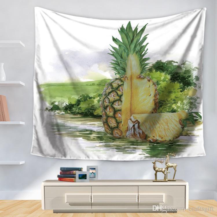 150 cm * 130 cm Kreative Farbe Ananas Muster Wandteppiche Wandbehang Kunst Home Dekorative Wandteppich Wohnzimmer Schlafzimmer Yoga matte