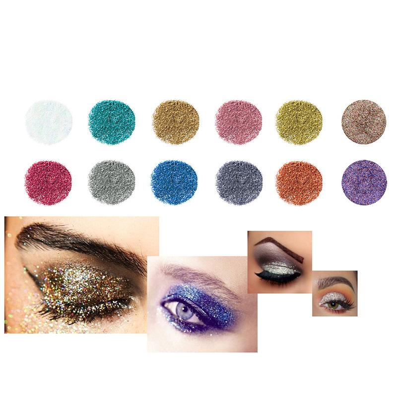 1set 12 Color Diamond Glitter Eyeshadow Palette Gold Shine Eyeshadow Glitter Shiny Eyeshadow Blue Eye Shadows Cosmetics Tool Eye Shadow Beauty Essentials