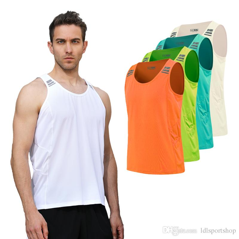 3921caa61c27d6 2019 New Quick Dry Mens Running Shirts Compression Gym Tank Top Fitness  Sleeveless T Shirts Sport Best Running Training Vest From Ldlsportshop
