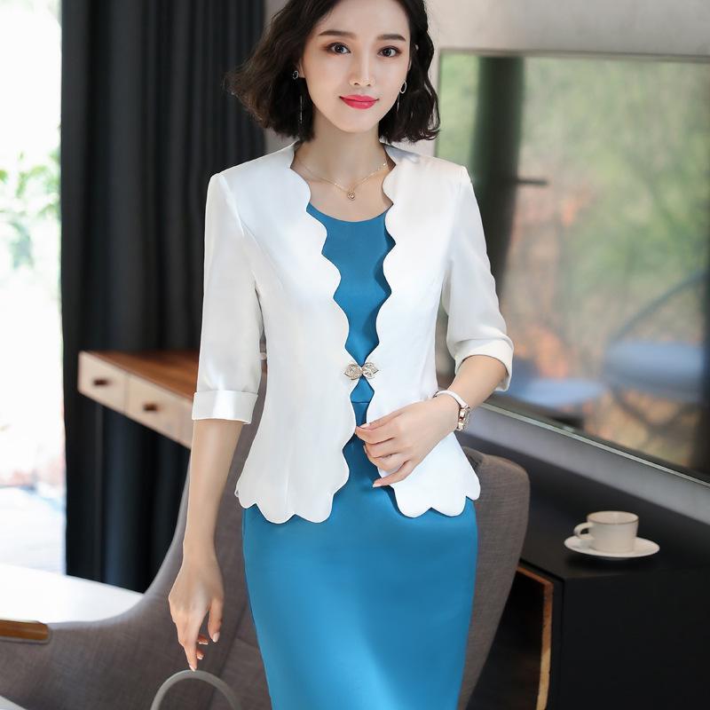 Compre 2018 Otoño OL Trabajo Color Sólido Office Lady Dress Suits 2  Conjuntos De Dos Piezas Elegante Mujer Blazer Jacket + Vestidos De Moda  Femme A  34.39 ... e7f2399fcf0e