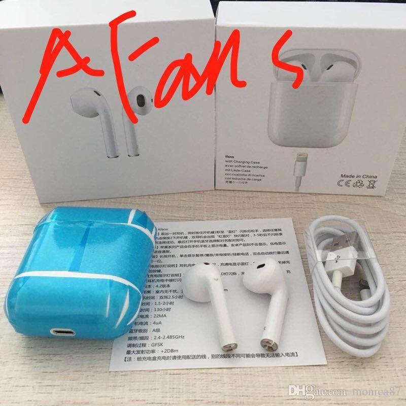 a86792743c5 2018 New Afans I8 TWS Mini Wireless Bluetooth Earphones With Charging Box  Sport Twins Headset Earbuds In Ear Handsfree Mic PK I7S Headphone Amp  Headphone ...