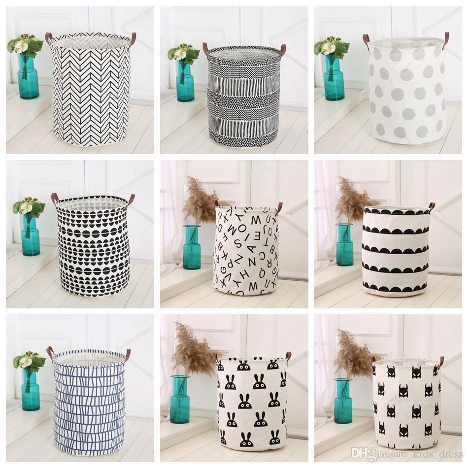 Ins Storage Baskets Bins Kids Room Toys Storage Bags Bucket Clothing Organization Canvas Laundry Bag 18 Styles Ooa4410 From Kids_dressu0027s Store | Dhgate.Com  sc 1 st  DHgate.com & Ins Storage Baskets Bins Kids Room Toys Storage Bags Bucket Clothing ...