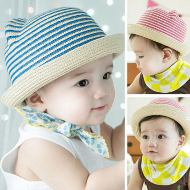 cd2e17d1ff6 2019 Fashion Ears Straw Hats Baby Hats For Girls Bucket Hat Boys Cap  Children Sun Summer Cap Kids Solid Beach Panama Caps From Henryk