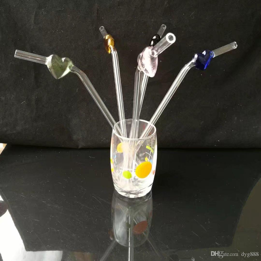 Pfirsich Stroh Großhandel Glas Bongs Ölbrenner Glas Wasserleitungen Öl Rigs Rauchen frei