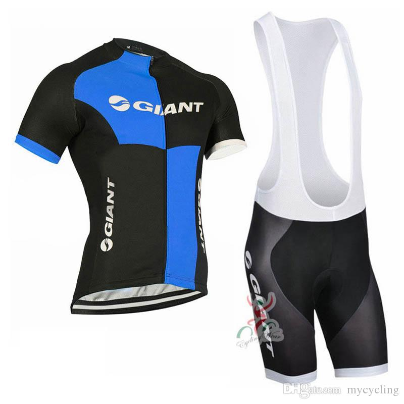 GIANT 2018 Summer Cycling Jersey Set Breathable Team Racing Sport Bicycle Jersey Men Cycling Clothing Short sleeve MTB Bike sportswear C2807