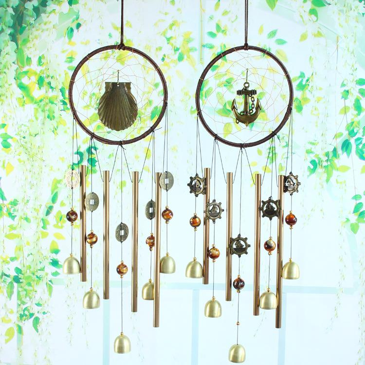 2019 60cm Dreamcatcher Metal Tube Wind Bell Chimes Pendant Door
