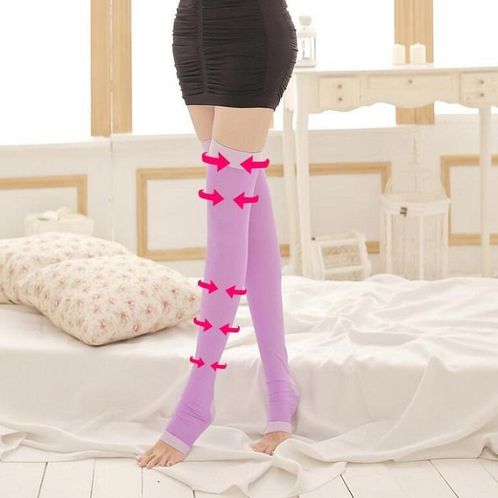 Hoher Elastizität-Fett-brennender Schenkel, der Druck-Strümpfe Shapewear-Gurt für Frauen-Mädchen-Dame Slim-Schaftbein freie Größe abnimmt