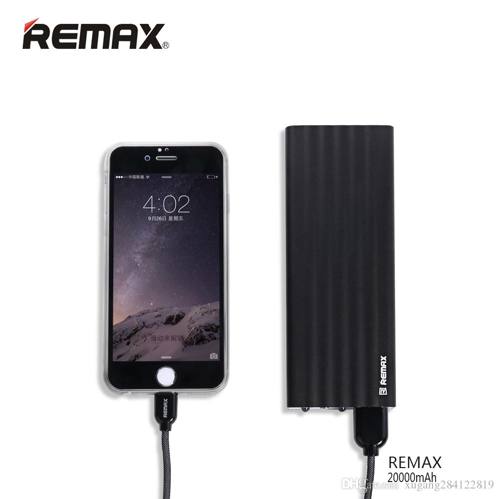 Original Remax 20000 mAh Power Bank Portable Dual USB Output External Backup Charger for Xiaomi for iPhone for Huawei Poverbank