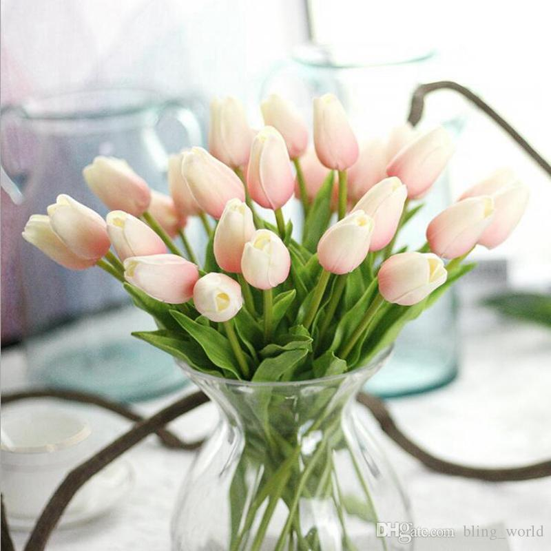 2019 Artificial Flowers Mini Tulip Silk Flower Real Touch Tulips
