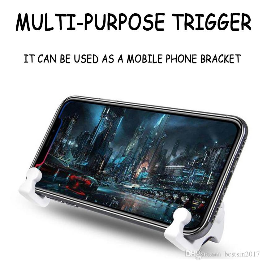 1 Paar PUBG Mobiele Telefoon Trigger Fysieke Joystick Fire Knop Aim Sleutel L1 R1 Trigger 1 Paar für Android iOS Schieten Game