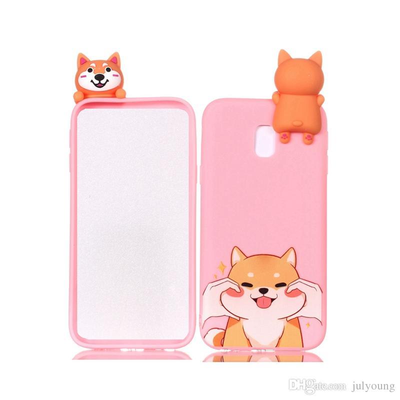 3D Soft Silicone Case Pour Galaxy S9 Plus S8 Note 8 J7 J5 J3 2017 UE Cartoon Hibou Licorne Ours De Chat Panda Chien Mignon Téléphone Portable Belle Couverture