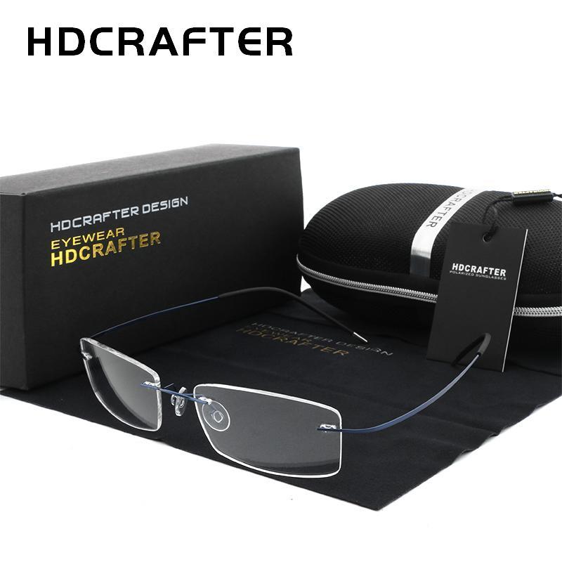 2c12bdef0f 2019 HDCRAFTER Mens Lightweight Titanium Rimless Eyeglasses Frames  Prescription Optical Glasses Frame For Women Frameless Frames From  Desertrose